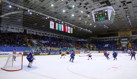 Campeonato 2017 del mundo del hockey sobre hielo Div 1 en Kyiv, Ucrania Imagenes de archivo
