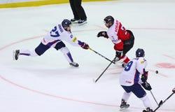 Campeonato 2017 del mundo del hockey sobre hielo Div 1A en Kyiv, Ucrania Imagen de archivo