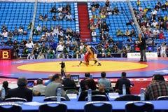 Campeonato del mundo en la lucha 2010 Imágenes de archivo libres de regalías