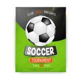Campeonato del torneo del fútbol del fútbol stock de ilustración