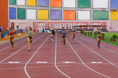 Campeonato do atletismo, mulheres de 400 medidores Foto de Stock