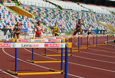 Campeonato do atletismo, mulheres dos obstáculos de 400 medidores Fotografia de Stock