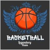 Campeonato do basquetebol - emblema do vetor Fotografia de Stock Royalty Free