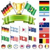 Campeonato do futebol ilustração do vetor