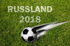 Campeonato do futebol de Rússia fotografia de stock