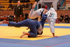 Campeonato do judo Fotos de Stock Royalty Free
