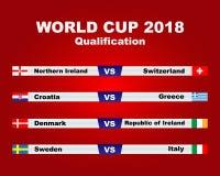 Campeonato do mundo 2018 Imagem de Stock Royalty Free