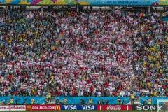 Campeonato do mundo Brasil 2014 - Inglaterra de Uruguai 2 x 1 fotografia de stock