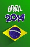 Campeonato do mundo criativo Brasil 2014 ilustração royalty free