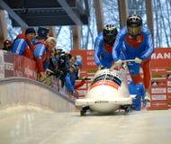 Campeonato do mundo de esqueleto do trenó de FIBT Viessmann @ Fotos de Stock