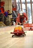 Campeonato do mundo de esqueleto do trenó de FIBT Viessmann @ Fotos de Stock Royalty Free