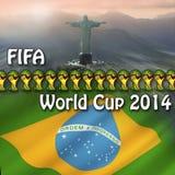 Campeonato do mundo 2014 de FIFA - Brasil ilustração stock