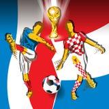 Campeonato do mundo 2018 de FIFA do final Imagem de Stock