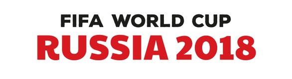 Campeonato do mundo 2018 de Rússia Imagem de Stock