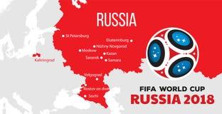 Campeonato do mundo 2018 de Rússia Imagens de Stock Royalty Free