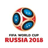 Campeonato do mundo 2018 de Rússia fotos de stock