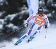 Campeonato do mundo do esqui alpino - treinamento em declive de Val Gardena foto de stock royalty free