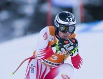 Campeonato do mundo do esqui alpino - treinamento em declive de Val Gardena fotos de stock royalty free