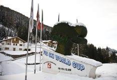 Campeonato do mundo do esqui alpino - Val Gardena foto de stock royalty free