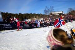 campeonato do mundo do esqui de 50km Oslo 2011 foto de stock royalty free