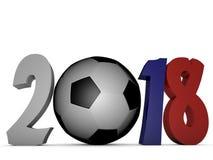 Campeonato do mundo 2018 do futebol de Rússia Fotos de Stock Royalty Free