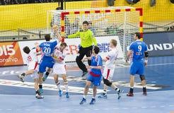 Campeonato do mundo do handball Fotos de Stock Royalty Free