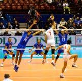 Campeonato do mundo do voleibol de FIVB Menâs Fotografia de Stock