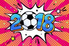 Campeonato do mundo 2018 do futebol ilustração stock