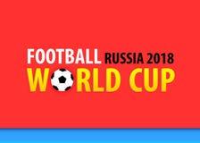 Campeonato do mundo do futebol em Rússia 2018, bandeira vermelha Fotos de Stock