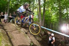 Campeonato do mundo para baixo 2013 de UCI, Mont Ste-Anne, Beaupr Fotos de Stock Royalty Free