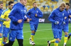 Campeonato do mundo que qualifica: Croácia de Ucrânia v em Kiev Pre-fósforo Fotos de Stock Royalty Free