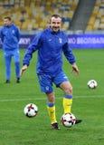 Campeonato do mundo que qualifica: Croácia de Ucrânia v em Kiev Pre-fósforo Foto de Stock Royalty Free