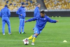 Campeonato do mundo que qualifica: Croácia de Ucrânia v em Kiev Pre-fósforo Imagem de Stock Royalty Free
