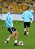 Campeonato do mundo que qualifica: Croácia de Ucrânia v em Kiev Pre-fósforo Foto de Stock