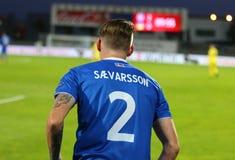 Campeonato do mundo 2018 que qualifica: Islândia v Ucrânia em Reykjavik Imagens de Stock