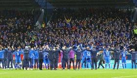 Campeonato do mundo 2018 que qualifica: Islândia v Ucrânia em Reykjavik Imagem de Stock