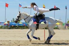 Campeonato do russo na equitação do truque Foto de Stock Royalty Free