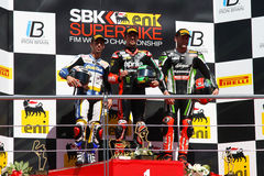 Campeonato do Superbike do mundo Imagem de Stock Royalty Free