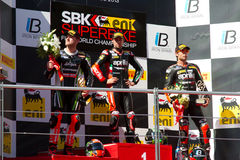 Campeonato do Superbike do mundo Fotos de Stock Royalty Free