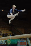 Campeonato en la gimnasia que se divierte Fotos de archivo libres de regalías
