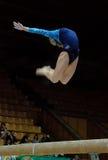 Campeonato en la gimnasia que se divierte Foto de archivo libre de regalías