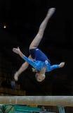 Campeonato en la gimnasia que se divierte Fotografía de archivo