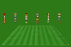 Campeonato europeo del fútbol - EM 2016 Fotografía de archivo
