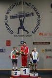 Campeonato europeo del levantamiento de pesas, Bucarest, Rumania, 2009 Foto de archivo