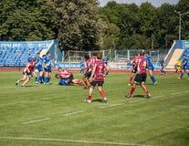 Campeonato europeo Ucrania - Noruega, rugbi imagenes de archivo