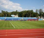 Campeonato europeo Ucrania - Noruega, rugbi fotos de archivo libres de regalías