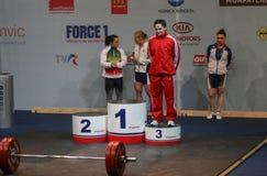 Campeonato europeu do halterofilismo, Bucareste, Romênia, 2009 Fotografia de Stock