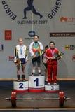 Campeonato europeu do halterofilismo, Bucareste, Romênia, 2009 Imagem de Stock