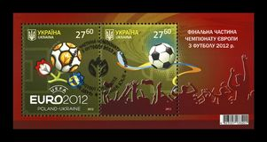 Campeonato final do EURO 2012 em Kiev, Ucrânia, cerca de 2012, Imagem de Stock Royalty Free