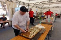 Campeonato italiano absoluto de la pizza foto de archivo libre de regalías